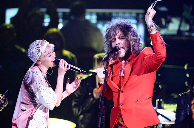 Miley Cyrus and Wayne Coyne