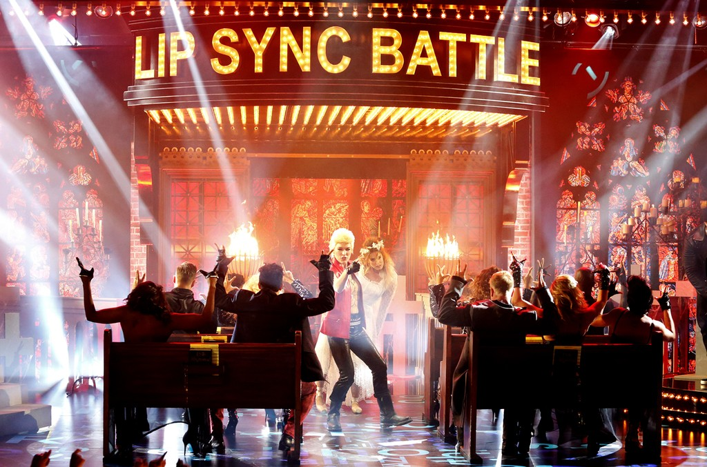 "Milla Jovovich performs ""White Wedding"" on Spike TV's ""Lip Sync Battle."""