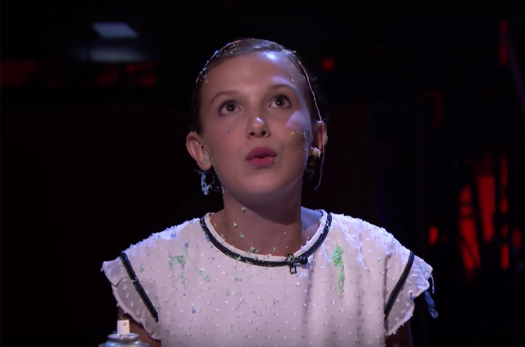 Millie Bobbie Brown on The Tonight Show Starring Jimmy Fallon.