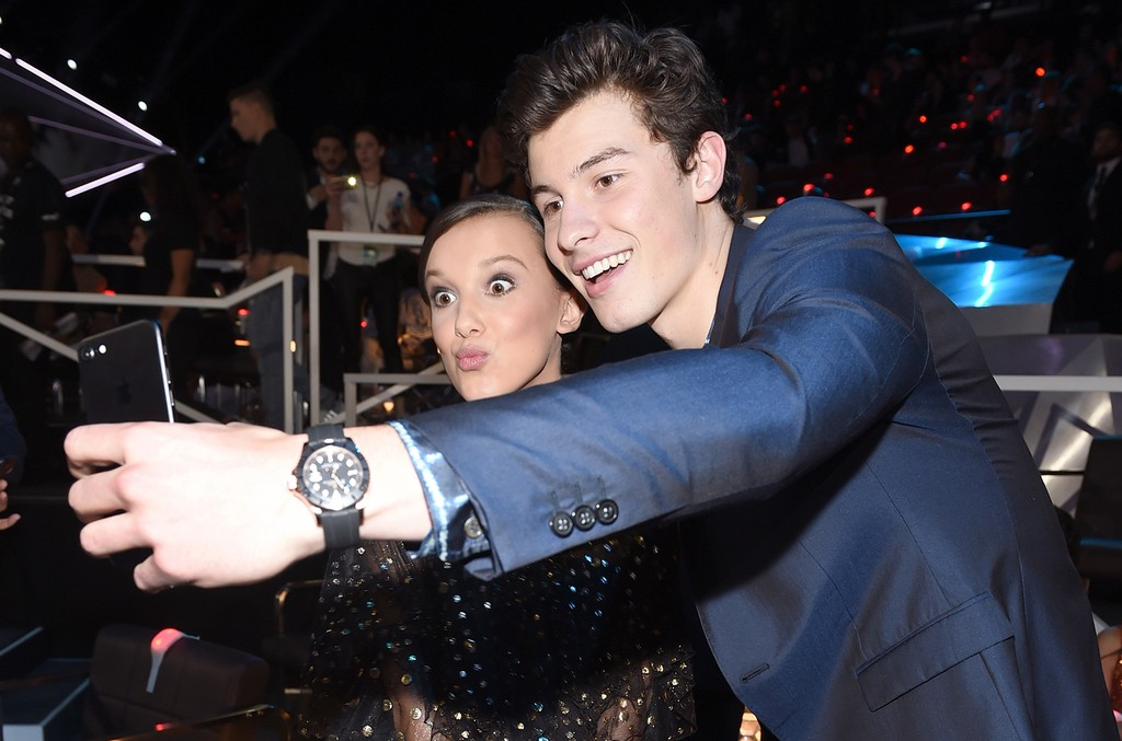 Millie Bobby Brown and Shawn Mendes, 2017 MTV VMAs