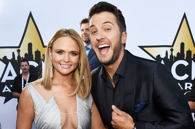 Miranda Lambert and Luke Bryan attend the 50th Academy Of Country Music Awards