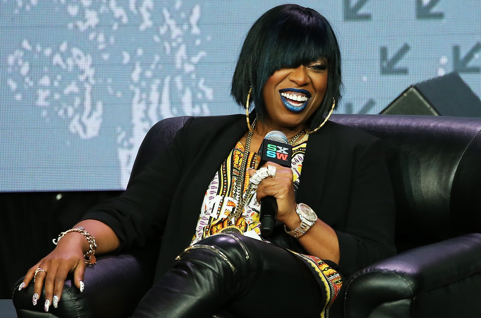 Missy Elliott speaks on stage during the SXSW Keynote