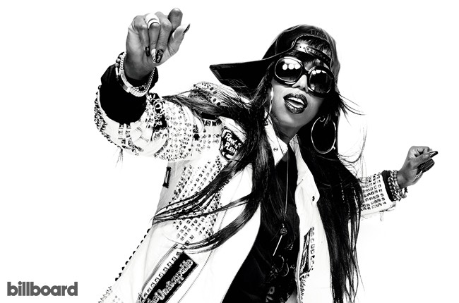 Missy Elliott photographed on Nov. 6, 2015 at Root Drive-In Studio in New York City.