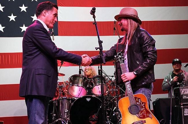 Mitt Romney and Kid Rock