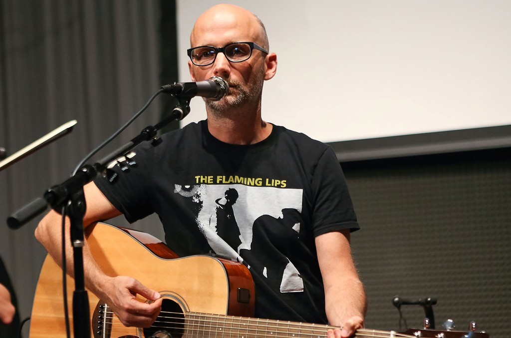 Moby performs at Sonos Studio on Sept. 23, 2013 in Los Angeles.