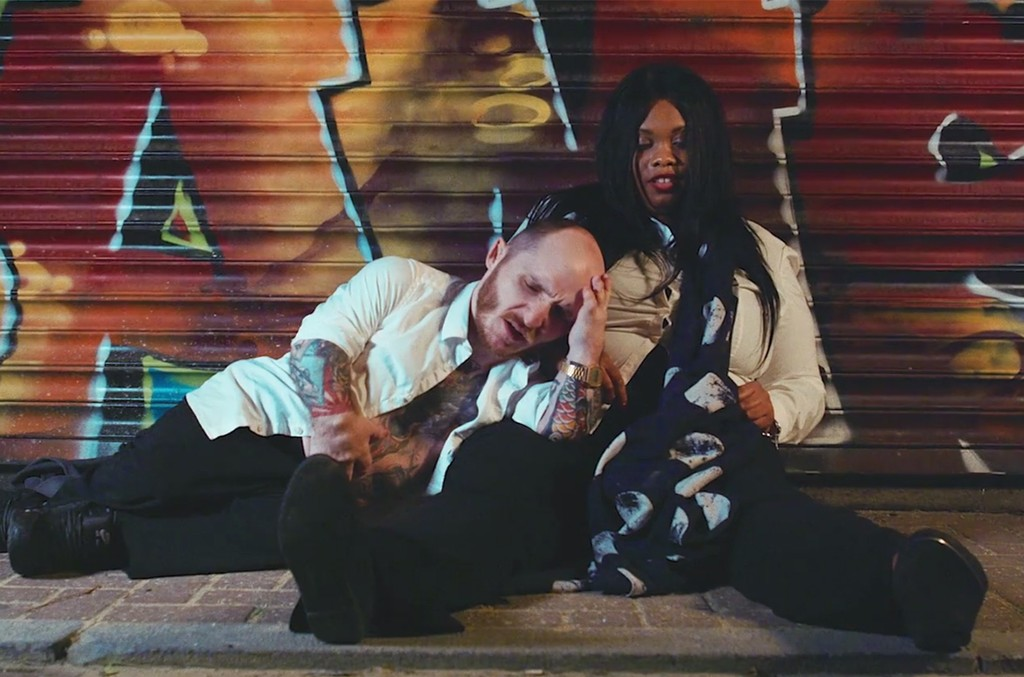 A scene from the video for 'Living For The Weekend' by Modestep