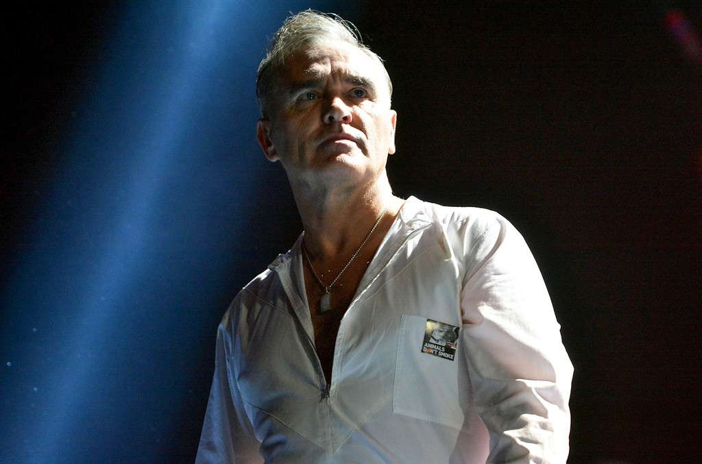 Morrissey performs in London