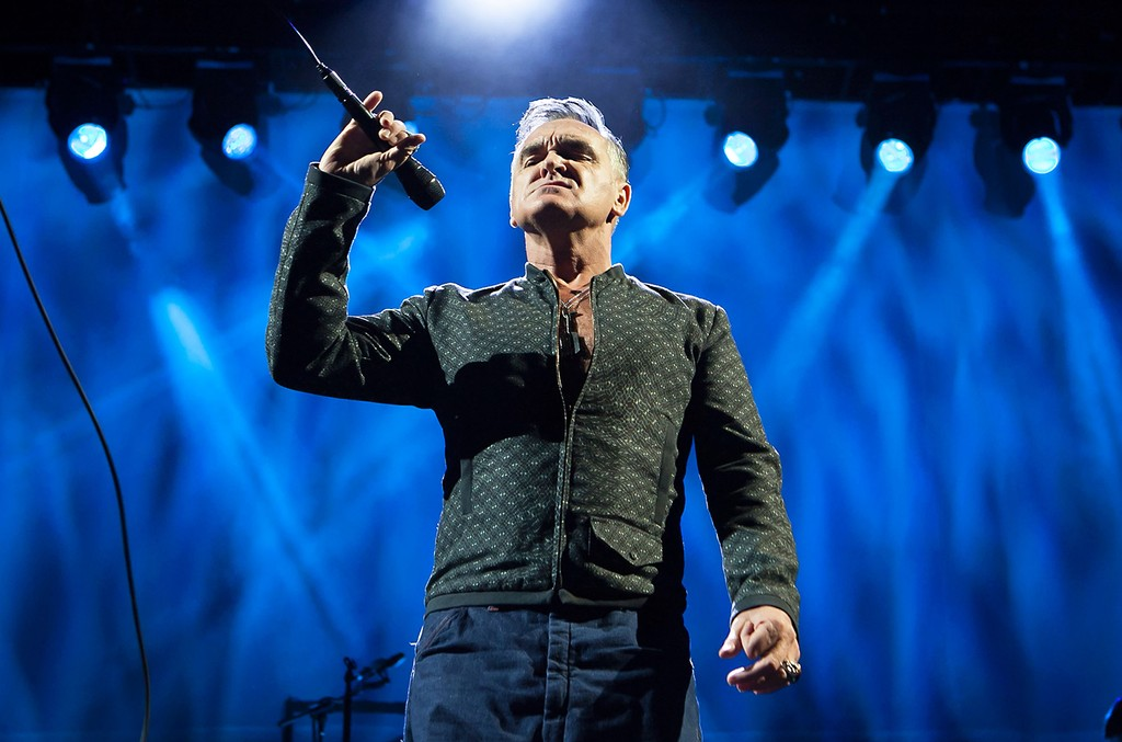Morrissey performs at Staples Center