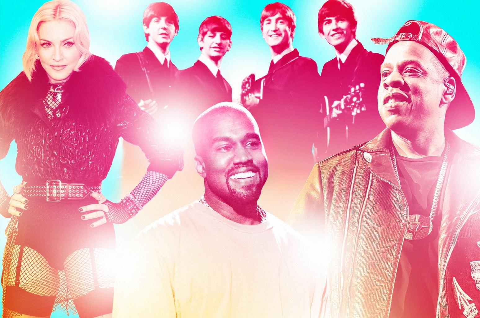 Madonna, The Beatles, Kanye West & Jay-Z