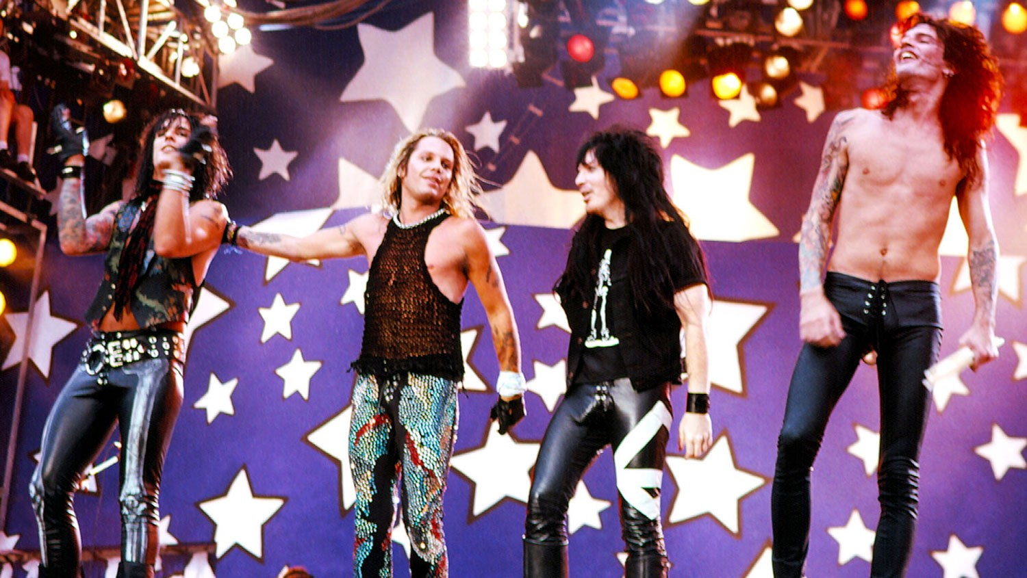 Mötley Crüe performing in 1989.