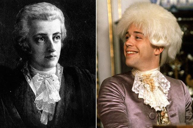 Wolfgang Amadeus Mozart and Tom Hulce as Wolfgang Amadeus Mozart