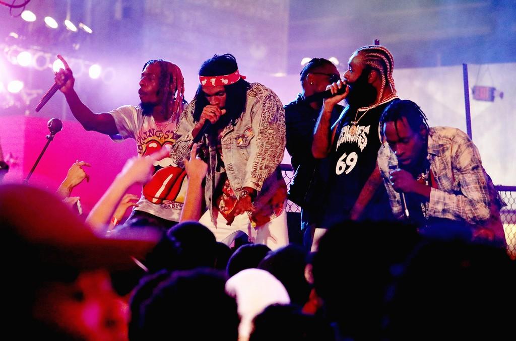 "Meechy Darko, Erick Arc Elliott, and Zombie Juice of Flatbush Zombies performs onstage at MTV's ""Wonderland"" LIVE Show on Nov. 10, 2016 in Los Angeles."