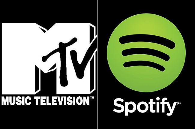 MTV and Spotify logos