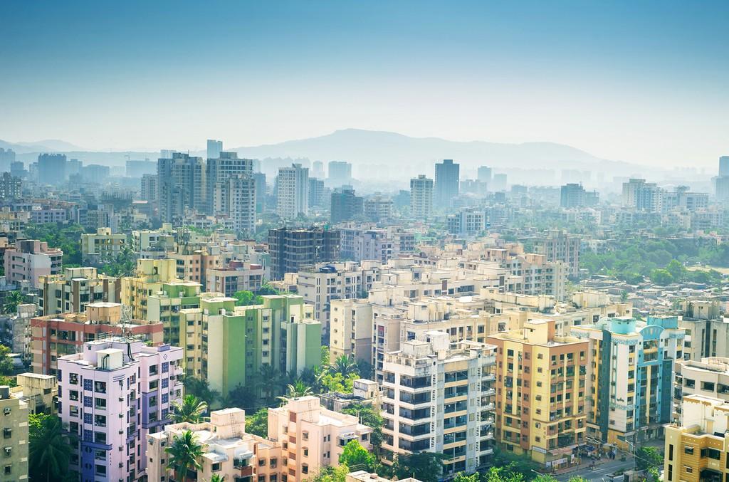 Mumbai, India skyline.