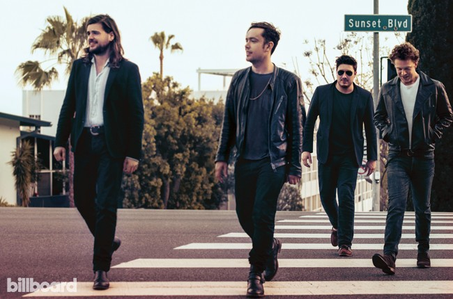 Mumford & Sons photographed on March 31, 2015 in West Hollywood.