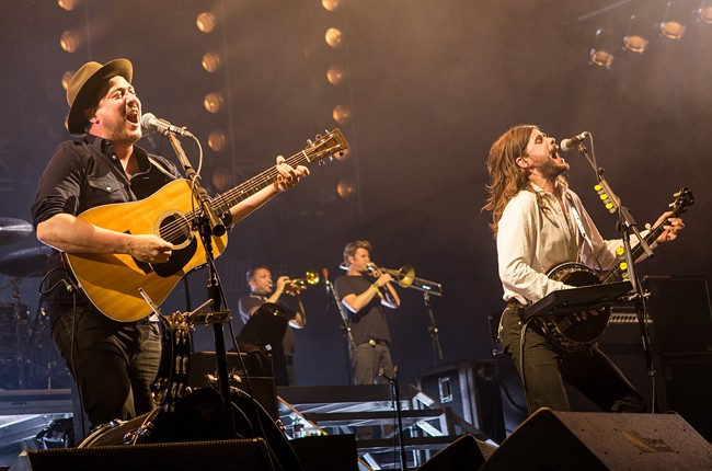 Marcus Mumford and Winston Marshall of Mumford & Sons