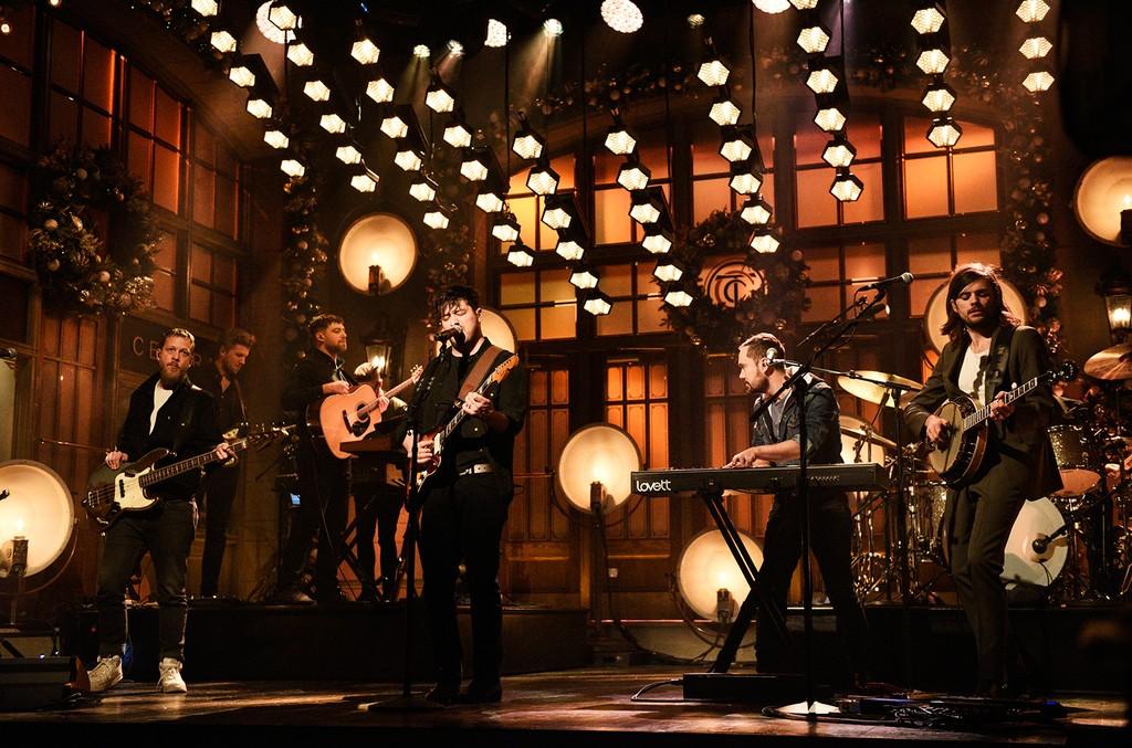 Mumford & Sons perform on Saturday Night Live on Dec. 8, 2018.