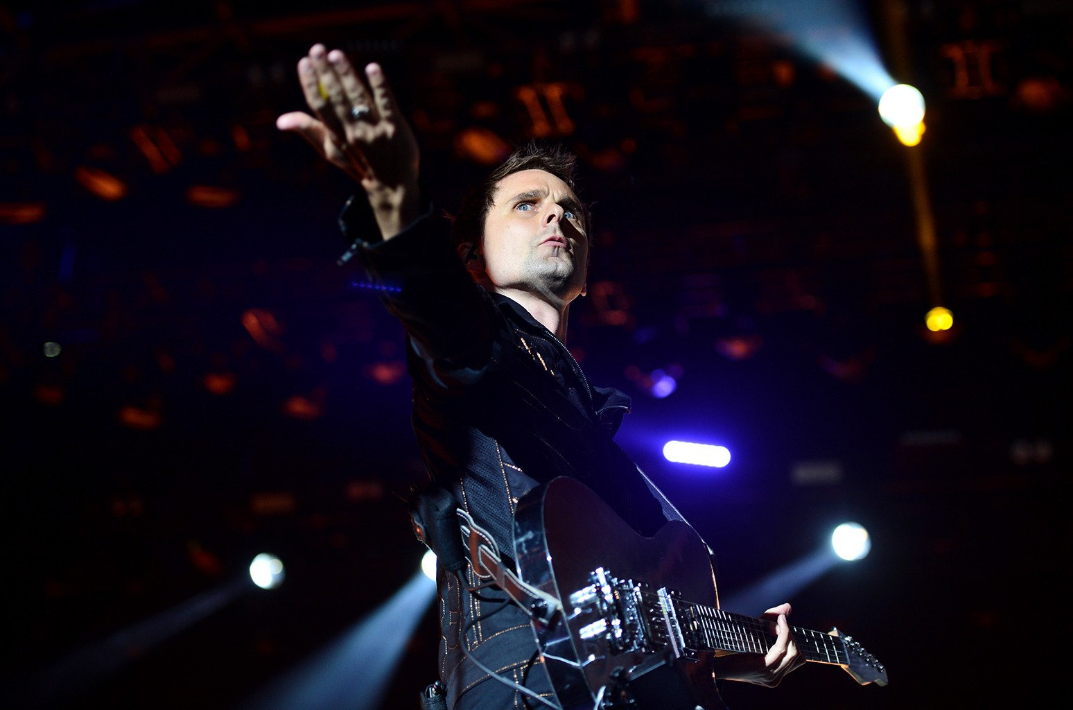 Muse perform at Glastonbury Festival