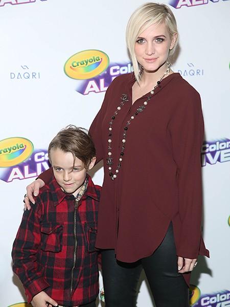 Ashlee Simpson Ross and her son Bronx Mowgli Wentz