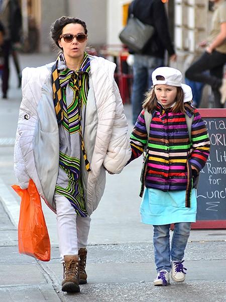 Bjork and daughter Isadora Barney