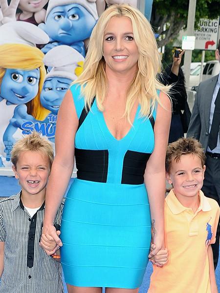 Britney Spears and her sons Sean Federline and Jayden James Federline