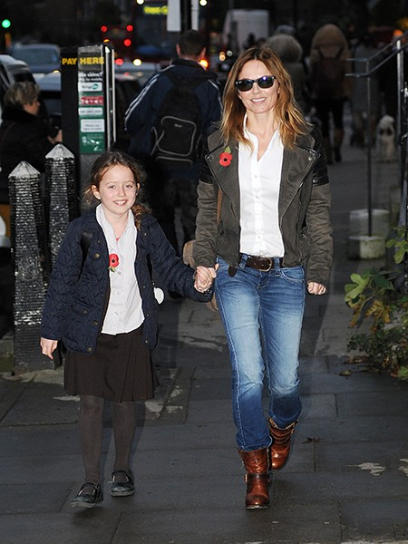 Geri Halliwell and her daughter Bluebell Halliwell