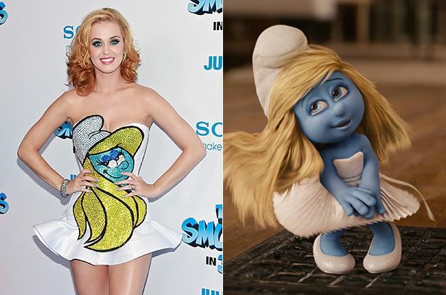 Katy Perry as Smurfette