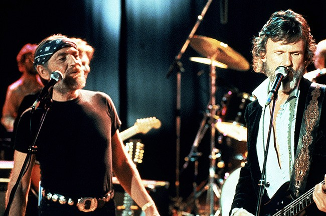 Willie Nelson and Kris Kristofferson in Songwriter (1984)