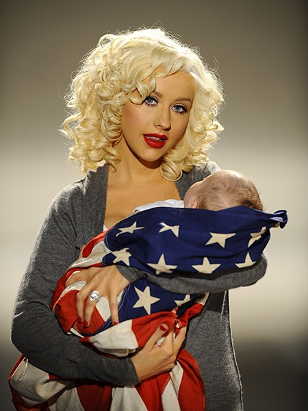 Christina Aguilera and son Max