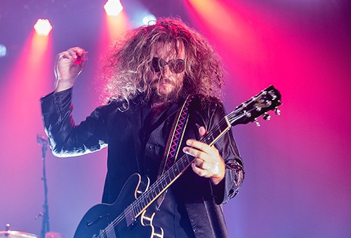 Jim James of My Morning Jacket performs in concert at Austin Music Hall