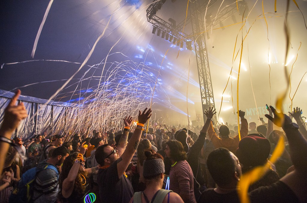 Atmosphere during Mysteryland 2015.
