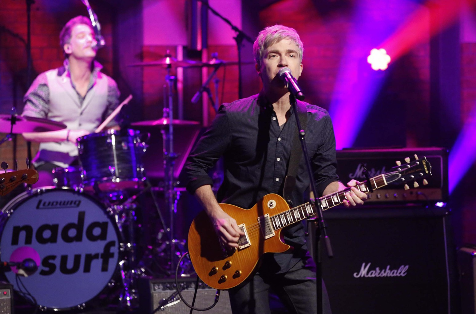 Nada Surf perform on Late Night with Seth Meyers on Feb. 29, 2016.