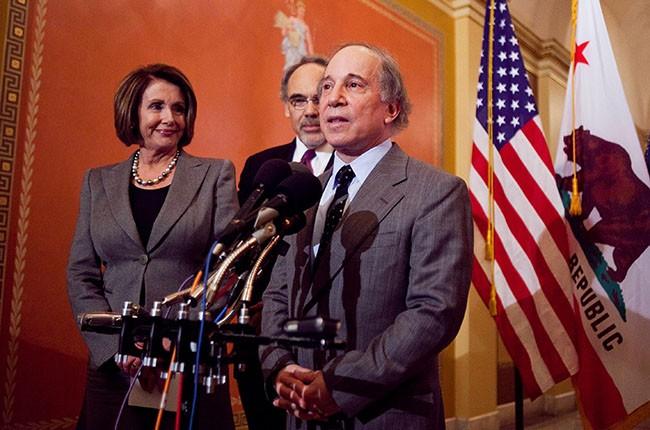 Nancy Pelosi and Paul Simon