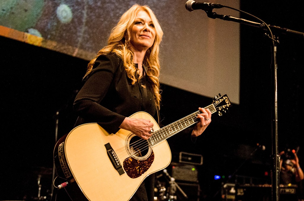 Nancy Wilson performs during the 5th Annual Rock Against MS concert at Los Angeles Theatre on March 25, 2017 in Los Angeles.