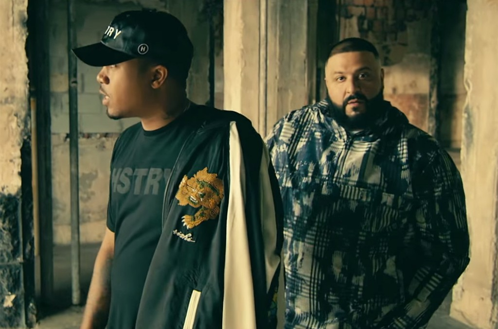 """A scene from the video for """" It's Secured"""" by DJ Khaled featuring Nas and Travis Scott"""