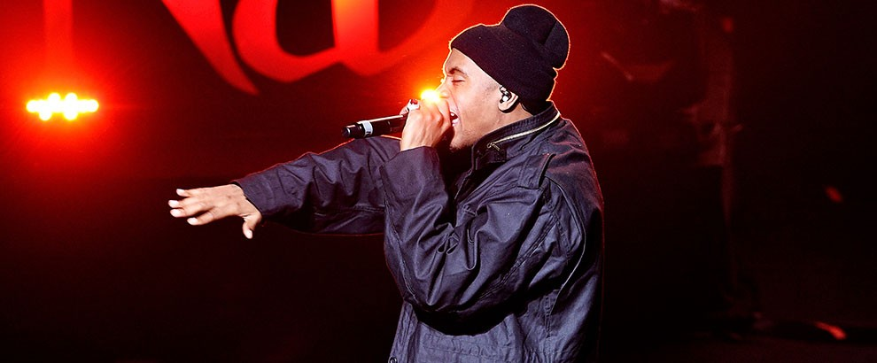Nas performs at the Tribeca Opening Night Concert