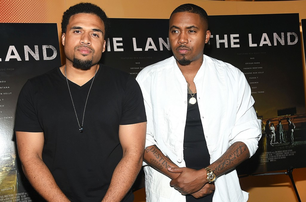 Nas at the premiere of The Land