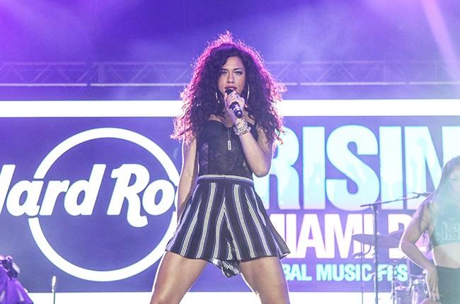 Natalie La Rose performs during the Miami Beach 100 Centennial Concert