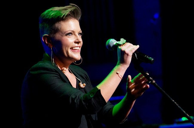 """Natalie Maines performs during the 4th Annual """"Home For The Holidays"""" Benefit Concert"""