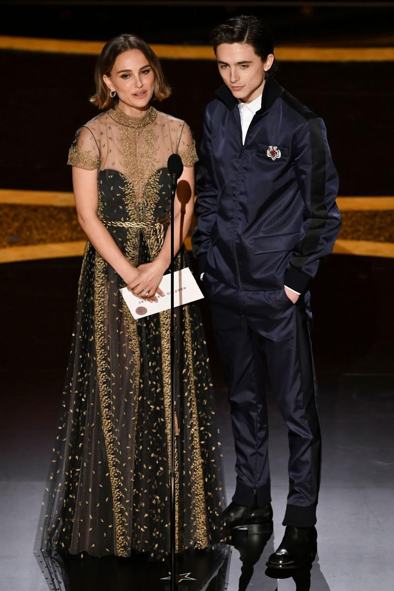 Natalie Portman and Timothée Chalamet
