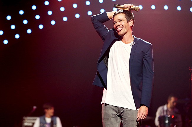 Nate Ruess of the band Fun. performs onstage during the iHeartRadio Music Festival 2013