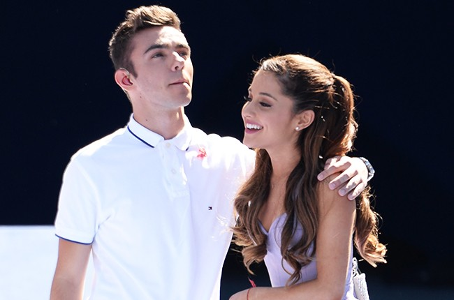 Nathan Sykes of The Wanted and Ariana Grande 2013