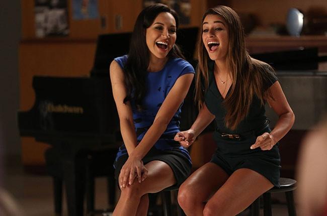 Naya Rivera and Lea Michele on 'Glee'