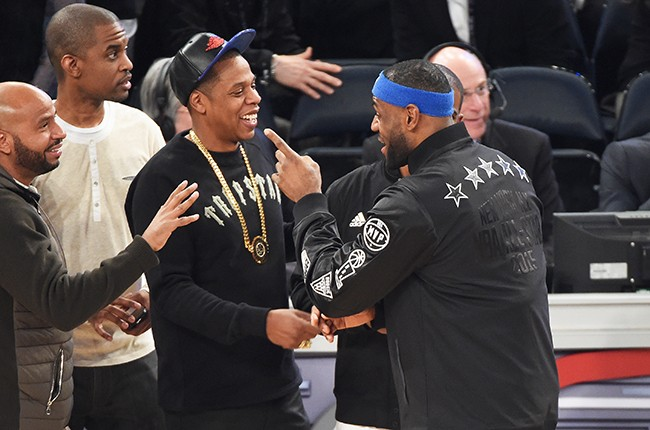 Jay Z and Lebron James