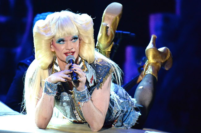 Neil Patrick Harris and the cast of 'Hedwig and the Angry Inch' perform onstage during the 68th Annual Tony Awards at Radio City Music Hall on June 8