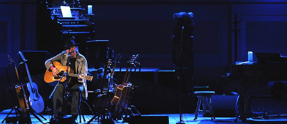 Neil Young performs at Carnegie Hall on January 6, 2014 in New York City.