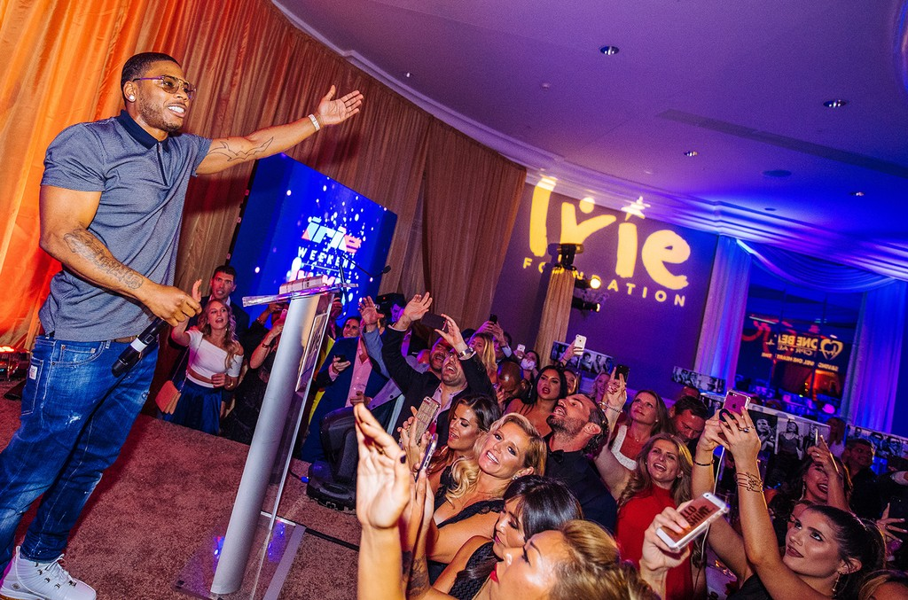 Nelly performs at the The One Beat Irie Foundation #InspIRIE Dinner Gala in Miami Beach on June 29, 2017.