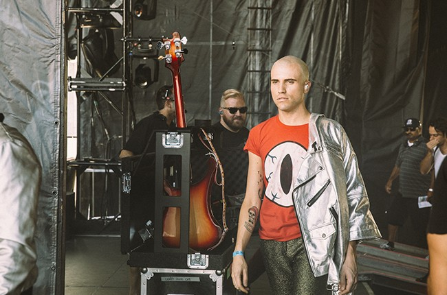 Neon Trees backstage at iHeartRadio 2014