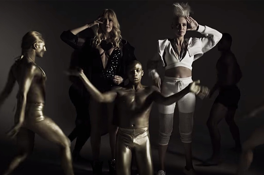 "Nervo in the video for ""In Your Arms."""