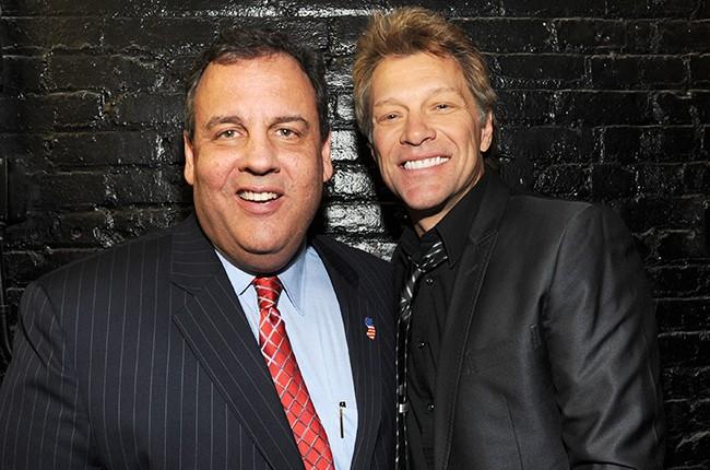 New Jersey Governor Chris Christie and Jon Bon Jovi